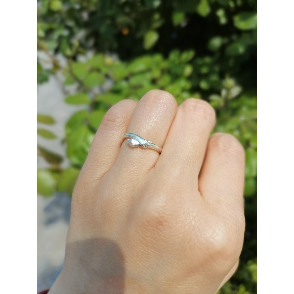 Adjustable Give You A Hug Promise Rings For Couples In
