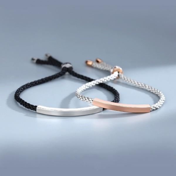 Engravable Simple Matching Bracelets For Couples