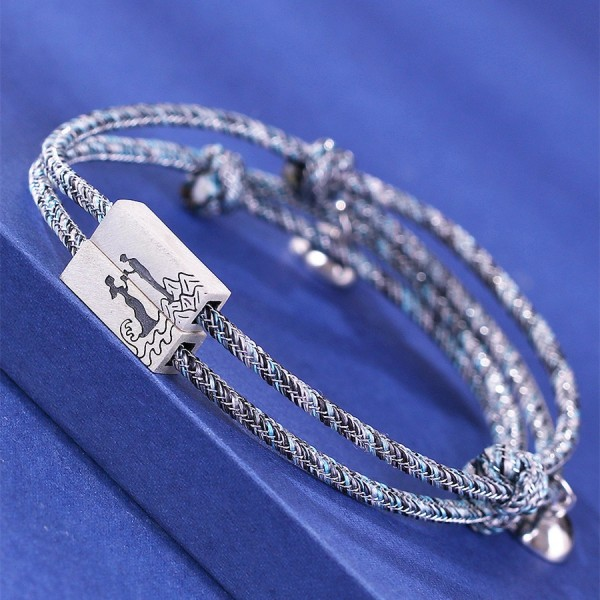 Engravable Cute Matching Bracelets For Couples