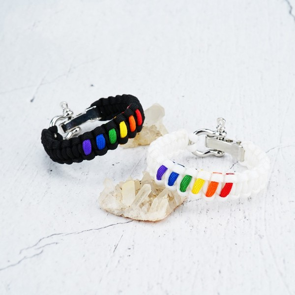 Personalized Rainbow Bracelets For Couples In Rope