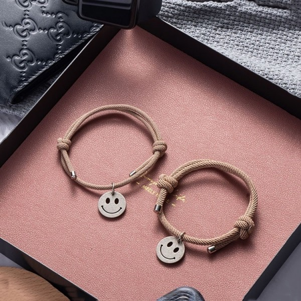 Smiley Face Matching Bracelets For Couples