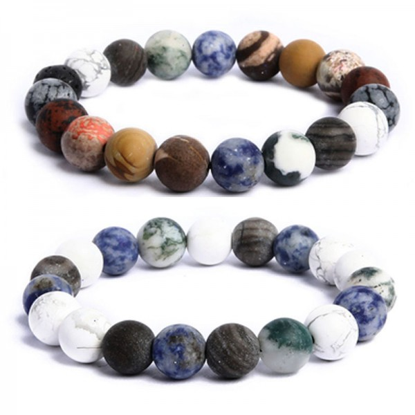 Personalized You Are The Universe Beaded Bracelets For Couples