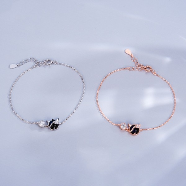 Personalized Little Devil Matching Bracelets For Couples In Sterling Silver