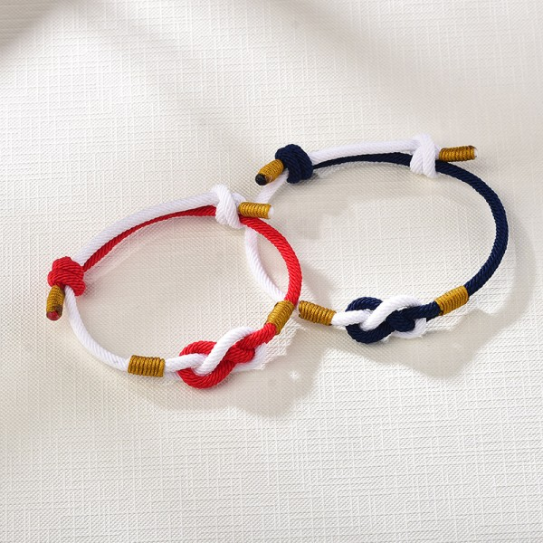 Infinity Matching Knot Bracelets For Couples In Rope
