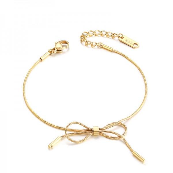 Rose Infinity Knot Bracelet For Womens In Titanium
