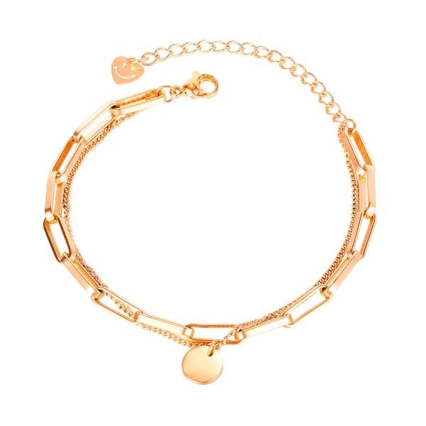 Engravable Unique Chain Bracelet For Womens In Titanium