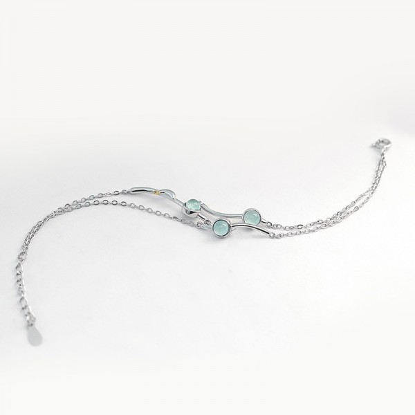 Cute Summer's Desire Charm Bracelet For Womens In Sterling Silver