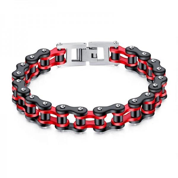 Unique Bike Chain Bracelet For Men In Titanium