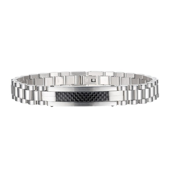 Personalized Watch Strap Bracelet For Men In Titanium