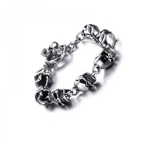 Unique Skull Bracelet For Men In Titanium