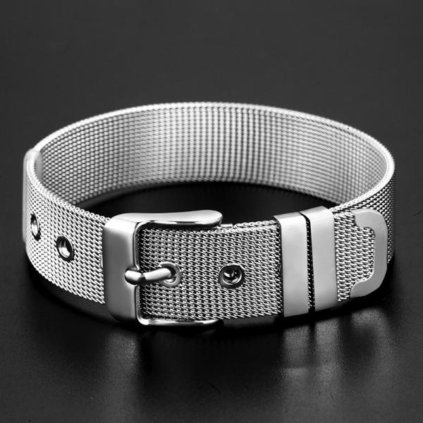 Simple Belt Bracelet For Men In Titanium