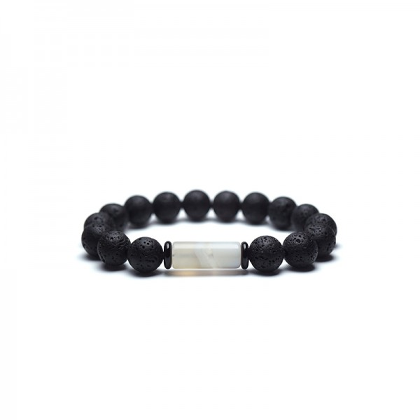 Unique Lava Stone Bead Bracelet For Men