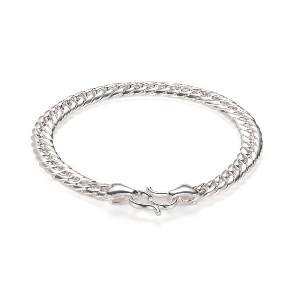 Engravable Cuban Link Bracelet For Men In Sterling Silver