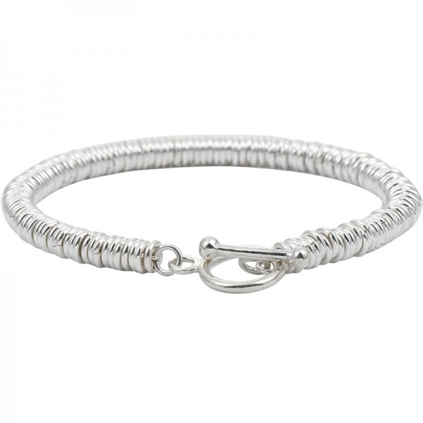 Unique Spring Chain Bracelet For Men In Sterling Silver