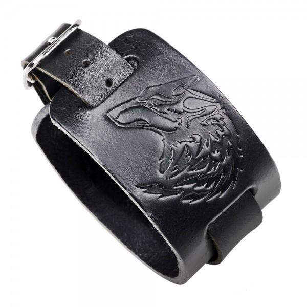 Unique Wolf Cowhide Belt Bracelet For Men