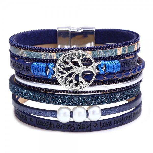 Unique Tree Of Life Leather Bracelet For Women