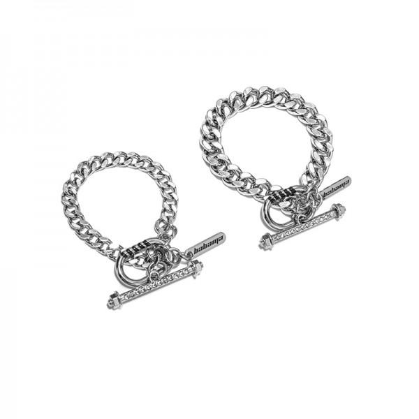 Unique Matching Cuban Link Bracelets For Couples In Titanium