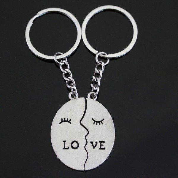 Love Matching Couple Keychains In Zinc Alloy