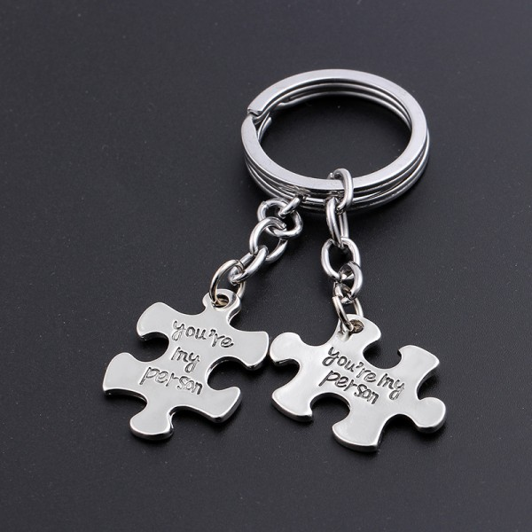 You Are My Person Matching Couple Keychains In Zinc Alloy