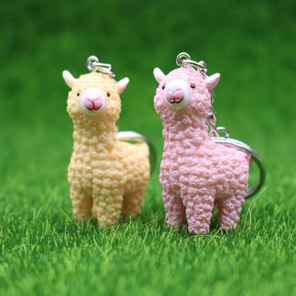 Cute PVC Alpaca Keychains For Couples