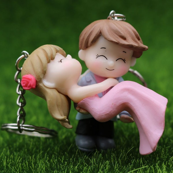 Cute PVC Newlyweds Keychains For Couples
