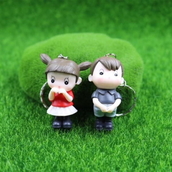 Cute Shy Couple Doll Keychains