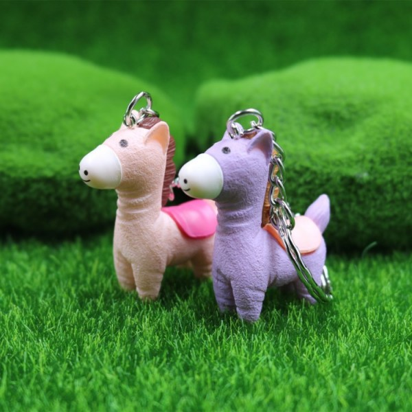 Cute Pony Doll Keychains For Couples