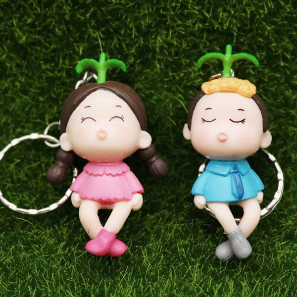 Cute Kssing Couple Doll Keychains