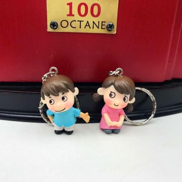 Shy Couple PVC Doll Keychains