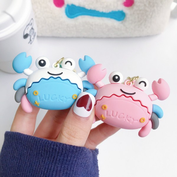 Cute Silicone Crab Keychains For Couples