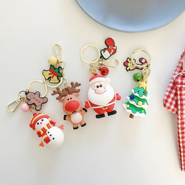 Cute Silicone Christmas Keychains For Couples