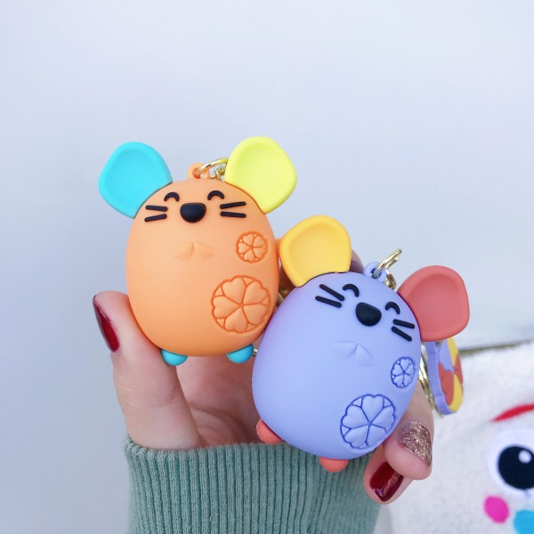 Cute Silicone Mouse Keychains For Couples