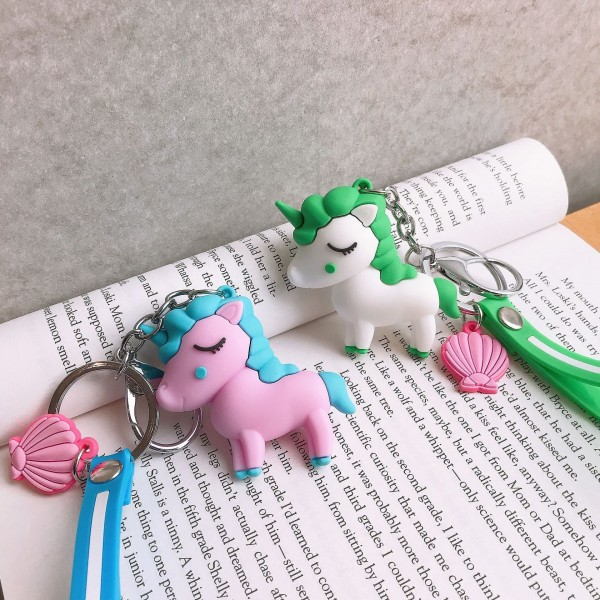 Cute Silicone Pony Keychains For Couples