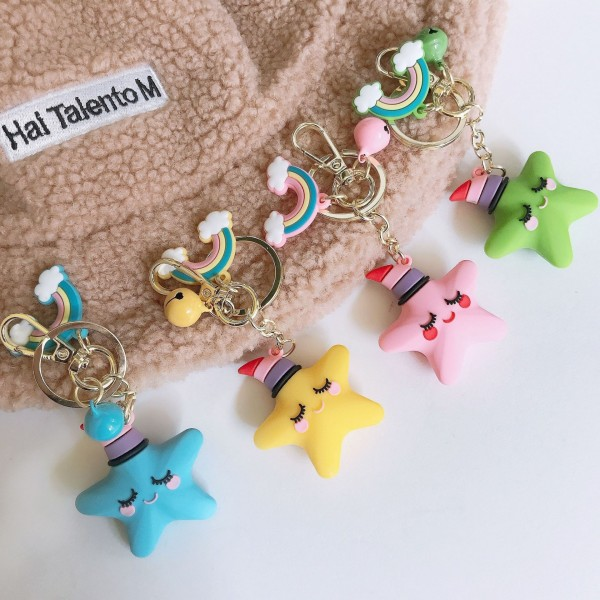 Cute Silicone Starfish Keychains For Couples