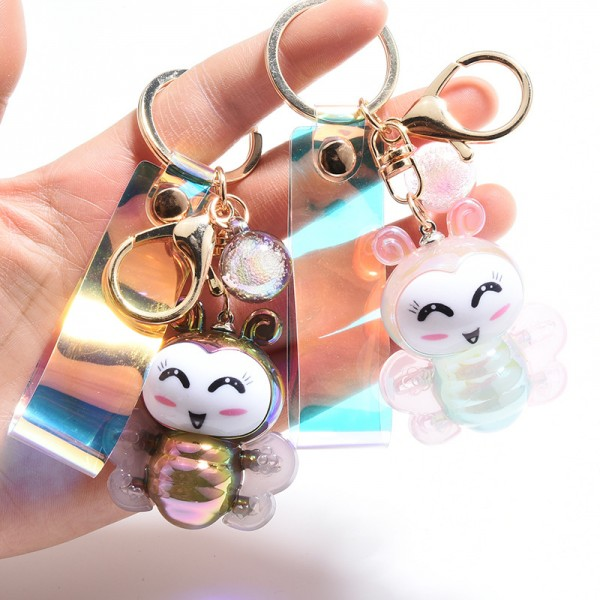 Cute PVC Illuminated Bee Keychain For Couples