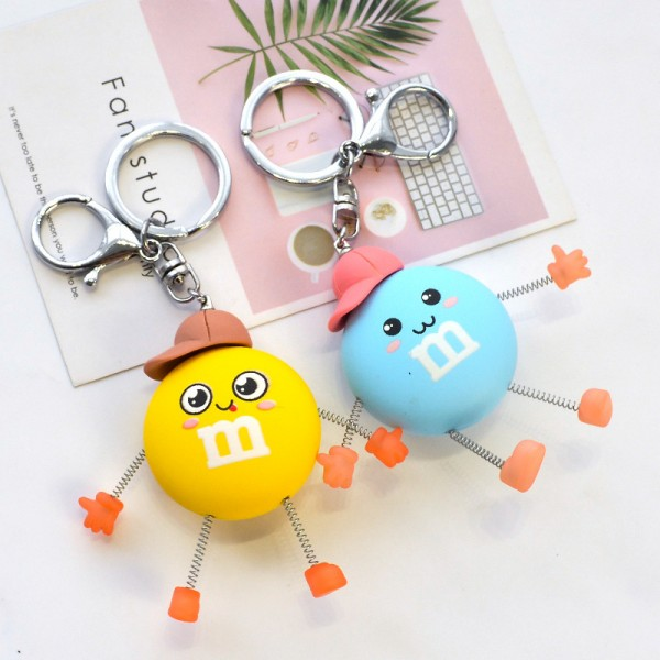 Cute PVC Beans Keychain For Couples