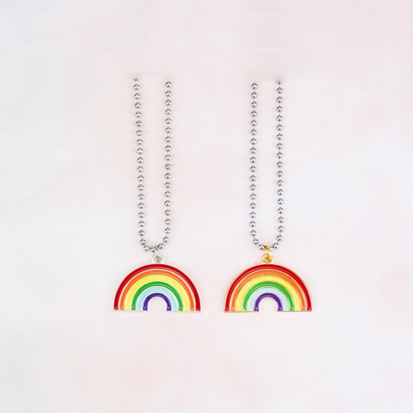Rainbow Necklaces For Couples In Titanium