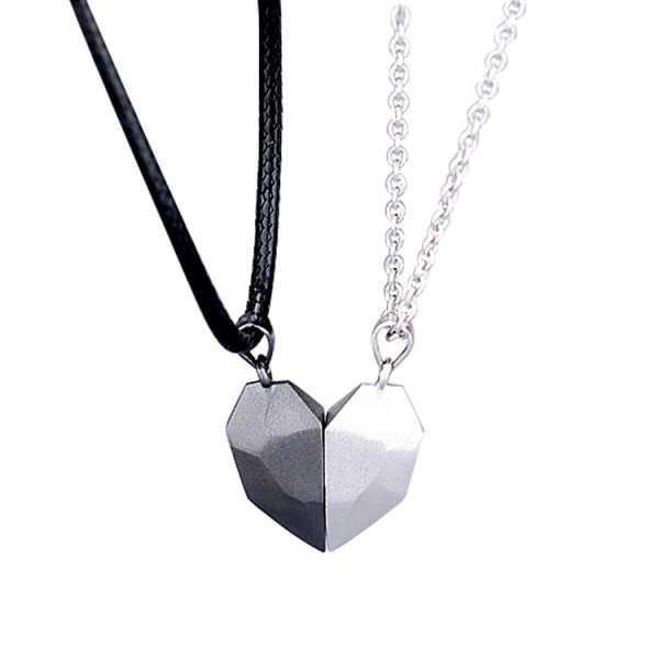 Engravable Matching Heart Necklaces For Couples In Sterling Silver