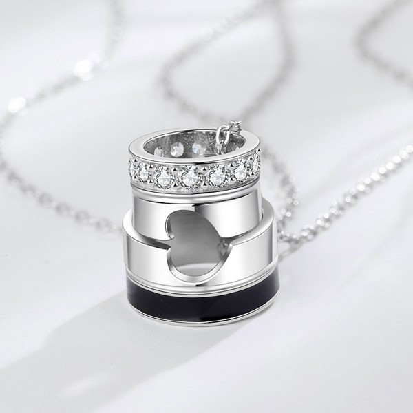Matching Heart Ring Necklaces For Couples In Sterling Silver