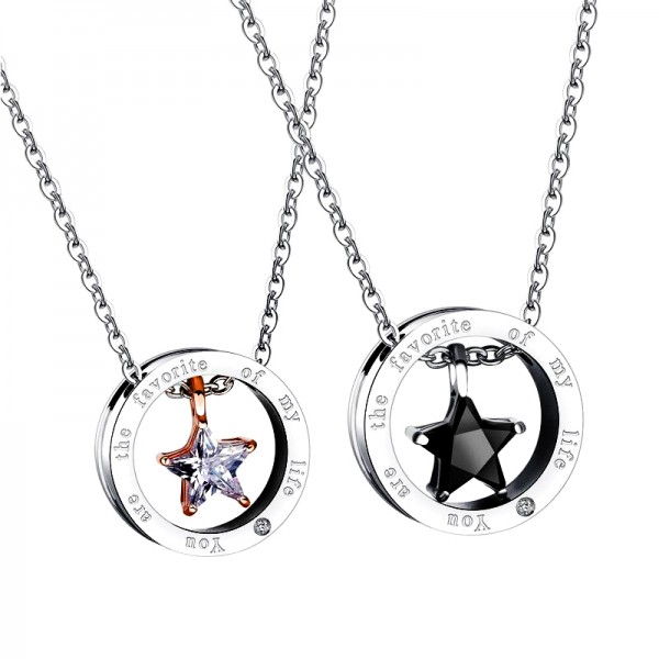 You Are The Favorite Of My Life Matching Necklaces In Sterling Silver