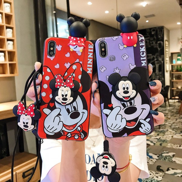 Cute Mickey And Minnie iPhone Cases For Couples In TPU