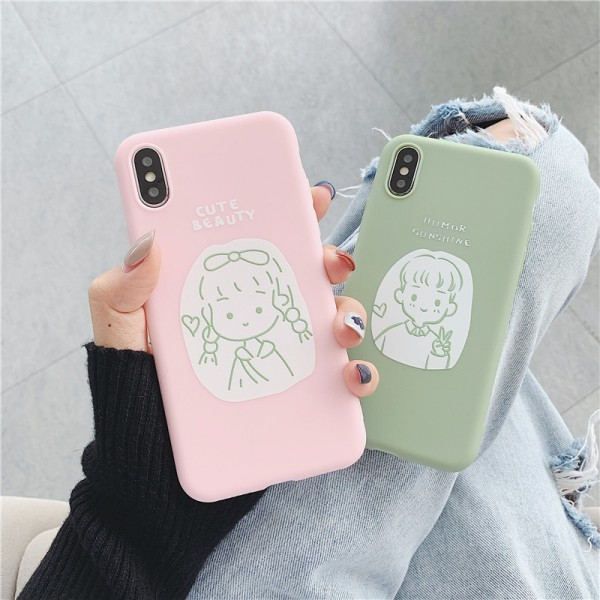 Cute Beauty And Humor Sunshine iPhone Cases For Couples In Silicone