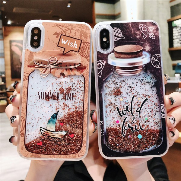Cool Drifting Bottle iPhone Cases For Couples In Silicone