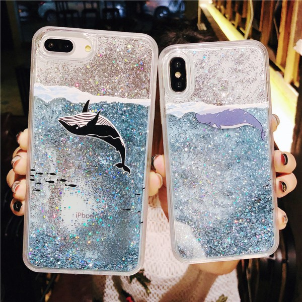 Cool Whale Couple's iPhone Cases In Silicone
