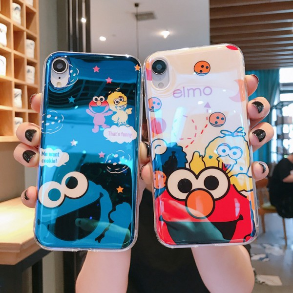 Elmo And Cookie Monster iPhone Cases For Couples In Silicone
