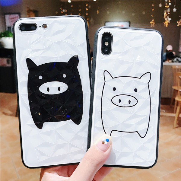 Cute Pig iPhone Cases For Couples In TPU