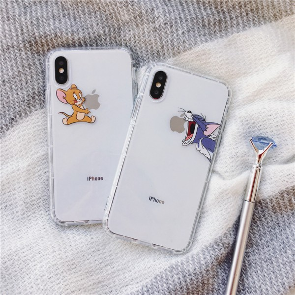 Tom And Jerry White iPhone Cases For Couples In TPU