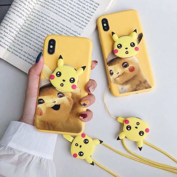 Pokemon Detective Pikachu iPhone Cases For Couples In TPU