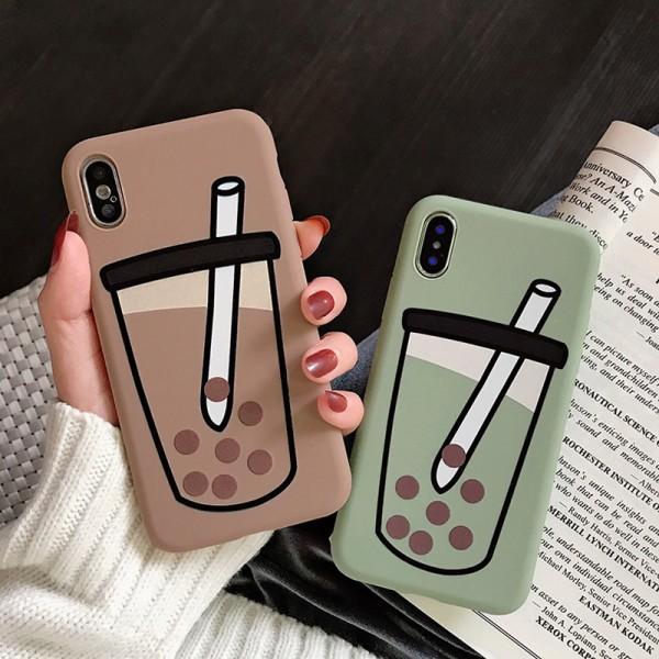 Couple Bubble Tea iPhone Cases In TPU