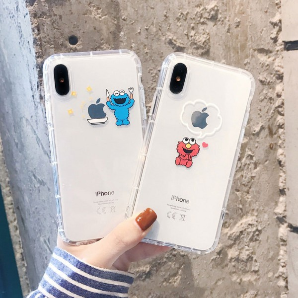 Elmo And Cookie Monster iPhone Cases In TPU